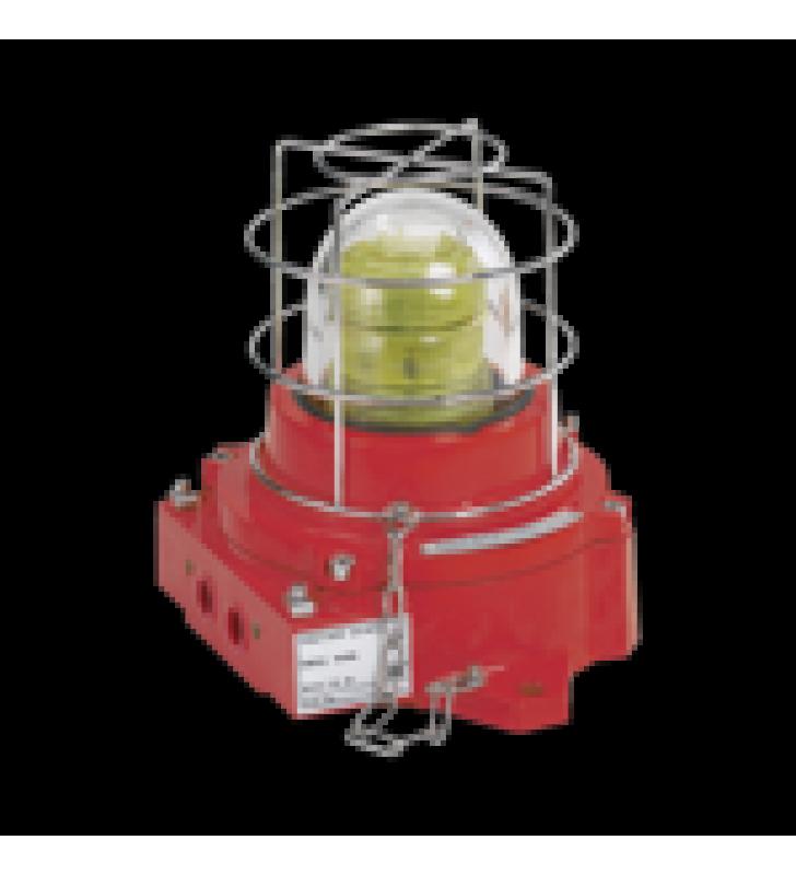 LUZ DE ADVERTENCIA LED, A PRUEBA DE EXPLOSION, 110-240 VCA, ATEX, IECEX, AMBAR