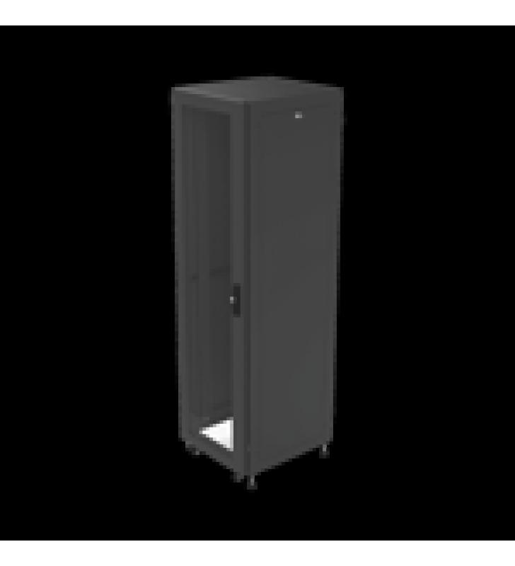 GABINETE PARA TELECOMUNICACIONES RACK ESTANDAR DE 19, 42UR, 600 MM ANCHO X 600 MM PROFUNDIDAD. FABRICADO EN ACERO.