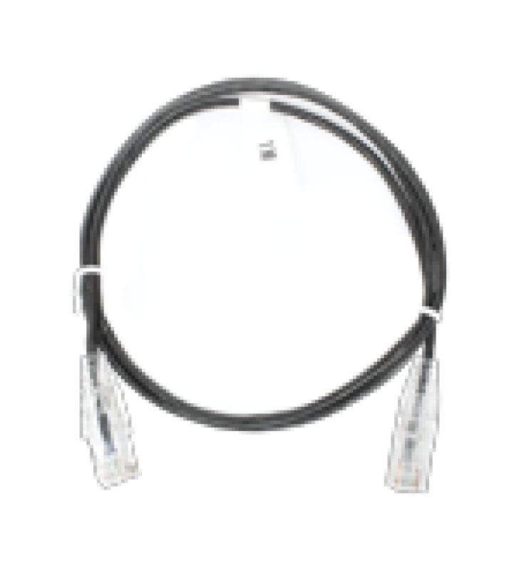 CABLE DE PARCHEO SLIM UTP CAT6 - 1 METRO, NEGRO, DIAMETRO REDUCIDO (28 AWG)