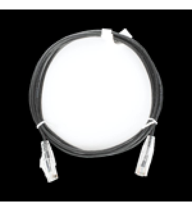 CABLE DE PARCHEO SLIM UTP CAT6 - 1.5 M NEGRO DIAMETRO REDUCIDO (28 AWG)