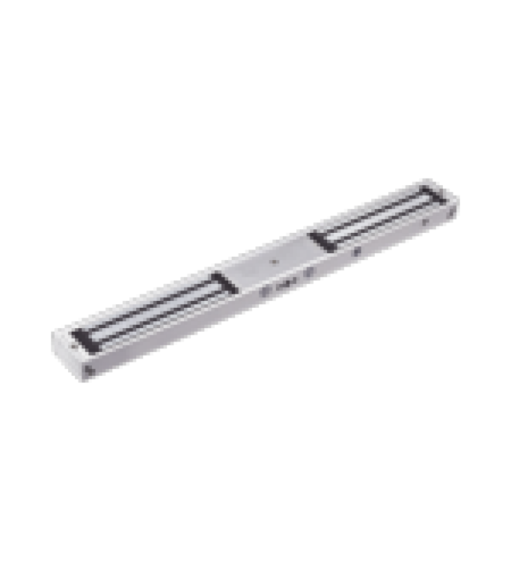 CHAPA MAGNETICA DOBLE PARA APLICACION EN PUERTAS DE DOBLE HOJA. 1200 LBS(X 2). LED INDICADOR ULTRABRILLANTE