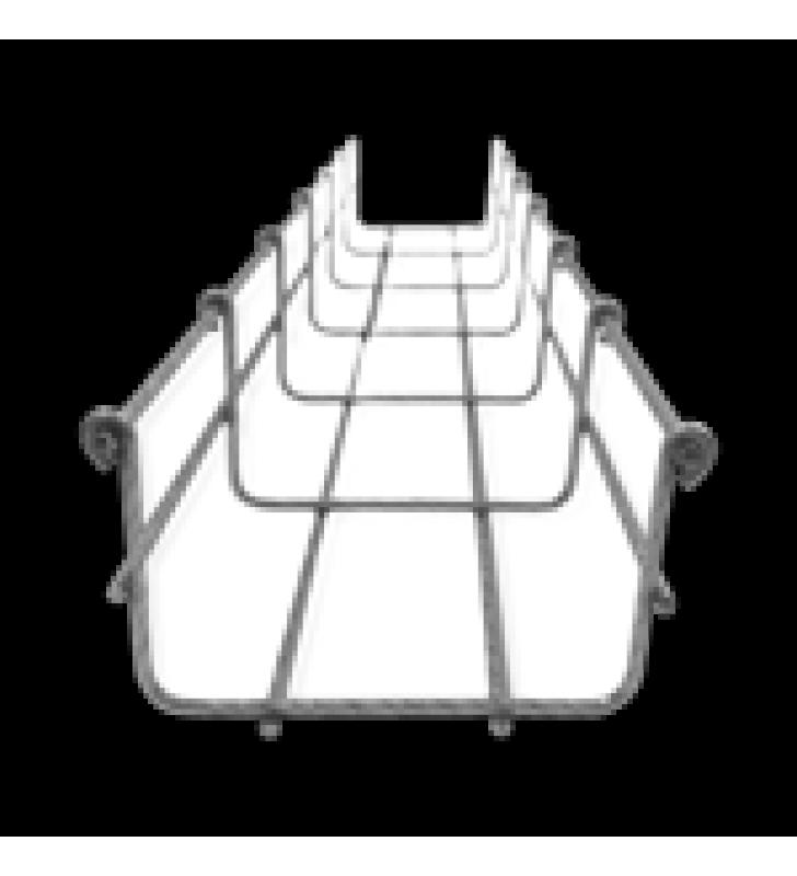 CHAROLA TIPO MALLA 66/100 MM BIMETALICA PARA INSTALACION EN EXTERIOR O INTERIOR, EXTREMA RESISTENCIA Y DURABILIDAD. HASTA 105 CABLES CAT6 (TRAMO DE 3 METROS)