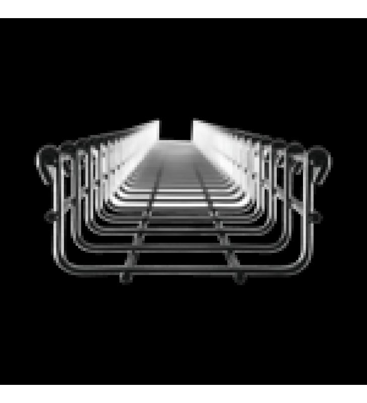 CHAROLA VERSION LIGHT MALLAFILS 54/100 MM, CON ACABADO ELECTRO ZINC, TRAMO 3 M