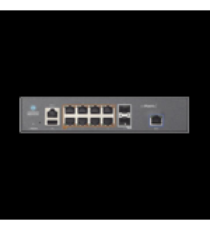 SWITCH CNMATRIX EX1010-P  DE 8 PUERTOS POE 802.3AF/AT Y 4 SFP, 75 W,  CAPA 2,  GESTION EN LA NUBE