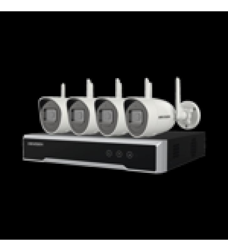 KIT IP INALAMBRICO 1080P / NVR 4 CANALES / 4 CAMARAS BALA PARA EXTERIOR / 1 HDD DE 1 TB / MODO REPETIDOR
