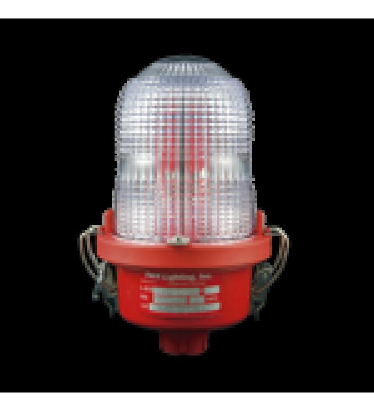 LAMPARA DE OBSTRUCCION ROJA TIPO L-810, LED DE BAJA INTENSIDAD, (12 - 24 VCD).