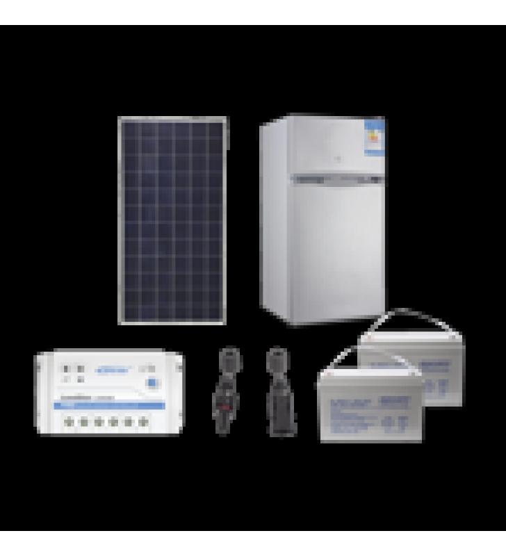 KIT DE ENERGIA SOLAR PARA REFRIGERADOR DE 105 L DE APLICACIONES AISLADAS DE LA RED ELECTRICA