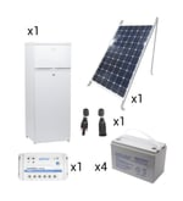 KIT DE ENERGIA SOLAR PARA REFRIGERADOR DE 220 L DE APLICACIONES AISLADAS DE LA RED ELECTRICA