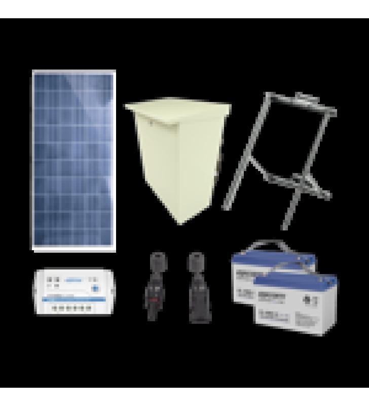 KIT DE ENERGIA SOLAR DE 12 VCD PARA ALIMENTAR RADAR DE VELOCIDAD X-RADAR1