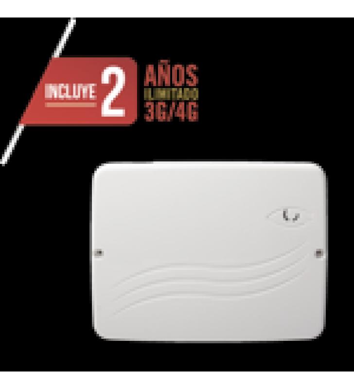 PANEL DE ALARMA CLOUD HIBRIDO 4G LTE / 8 ZONAS CABLEADAS, 32 INALAMBRICAS / INCLUYE 2 ANOS 3G/4GLTE ILIMITADOS / PROGRAMACION 100% VIA WEB / ALTA SEGURIDAD