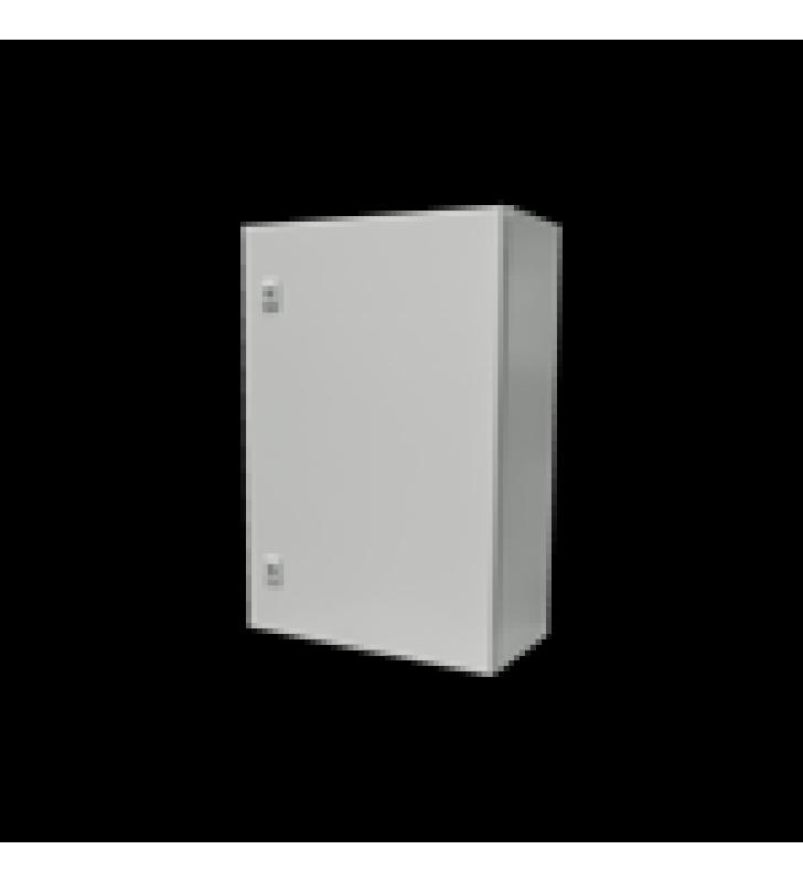 GABINETE DE ACERO IP66 USO EN INTEMPERIE (500 X 700 X 250 MM) CON PLACA TRASERA INTERIOR Y COMPUERTA INFERIOR ATORNILLABLE (INCLUYE CHAPA Y LLAVE).