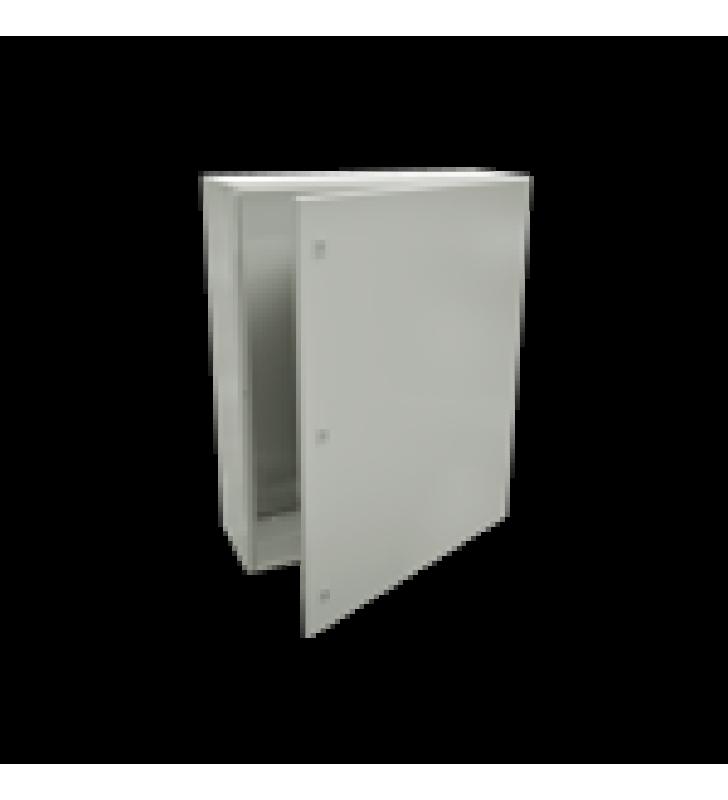 GABINETE DE ACERO IP66 USO EN INTEMPERIE (800 X 1200 X 400 MM) CON PLACA TRASERA INTERIOR Y COMPUERTA INFERIOR ATORNILLABLE (INCLUYE CHAPA Y LLAVE).