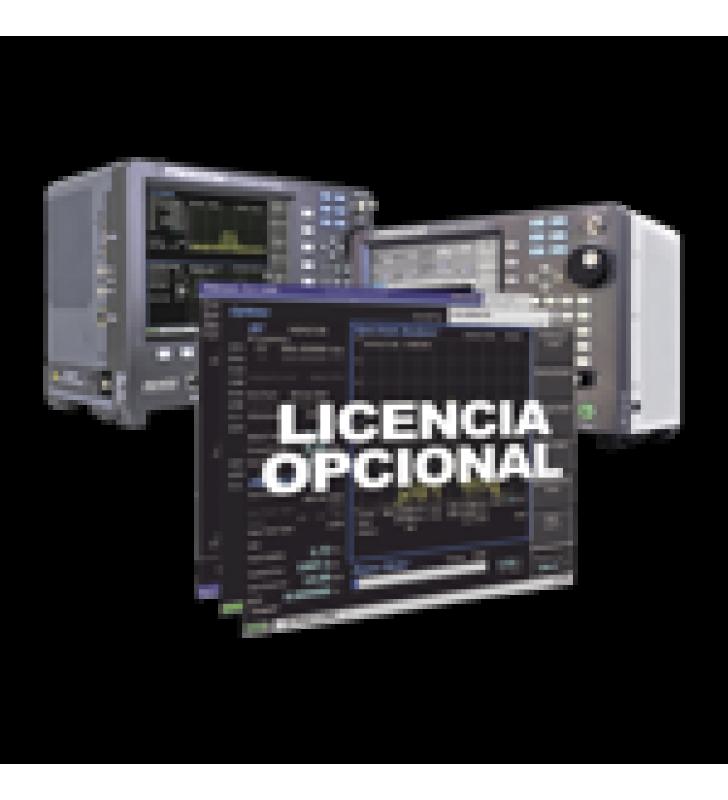 OPCION DE SOFTWARE PARA GENERADOR DE RASTREO EN ANALIZADORES R8000 /R8100 (TRACKING GENERATOR).