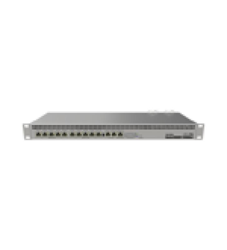 RB1100AHX4, CPU 4 NUCLEOS, 13 PUERTOS GIGABIT ETHERNET, 1 GB MEMORIA, LICENCIA NIVEL 6