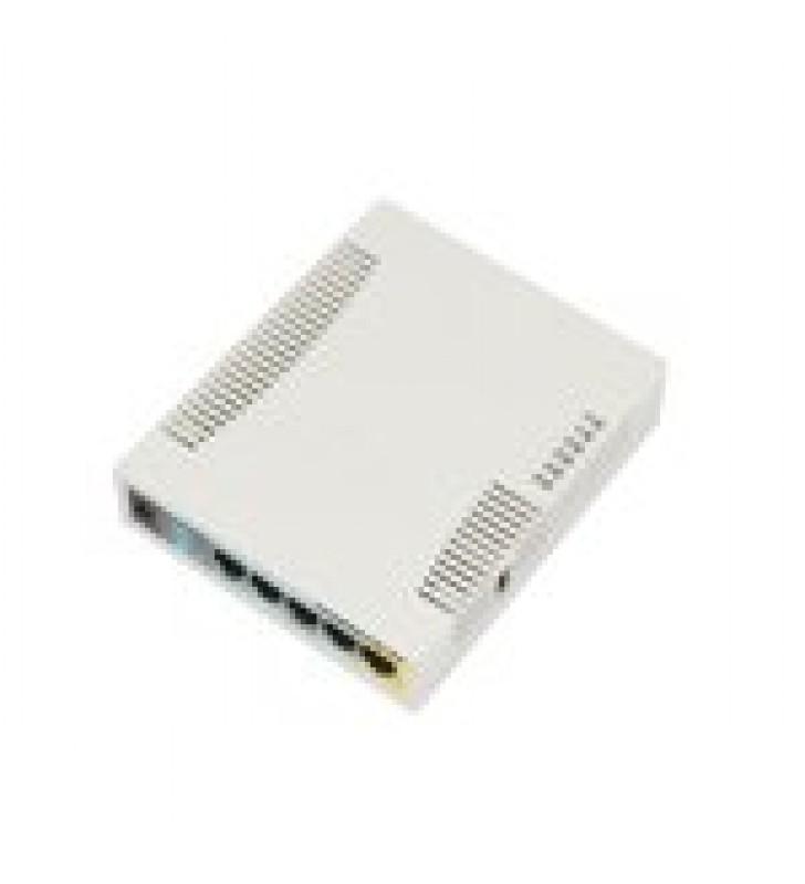 ROUTERBOARD, 5 PUERTOS FAST, 1 PUERTO USB, WIFI 2.4 GHZ 802.11 B/G/N, GRAN COBERTURA CON ANTENA 2.5 DBI, HASTA 1 WATT DE POTENCIA