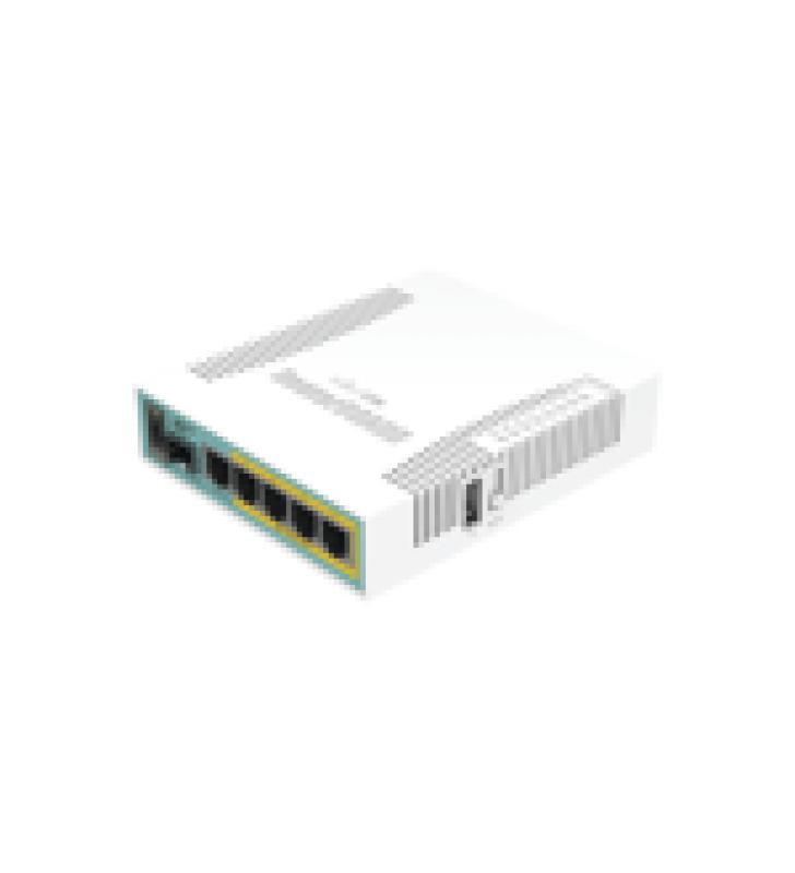 (HEX POE) ROUTERBOARD 5 PUERTOS GIGABIT ETHERNET POE 802.3AT, 1 PUERTO USB