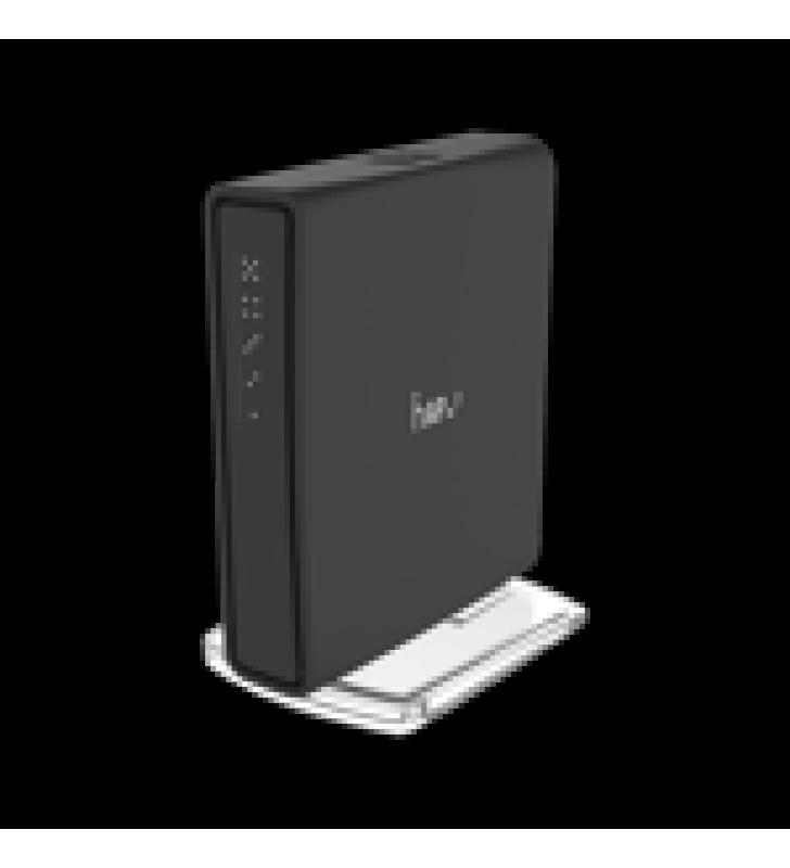 (HAP AC2) 5 PUERTOS GIGABIT ETHERNET, 1 PUERTO USB, DOBLE BANDA 802.11 B/G/N/AC WAVE 2, ANTENA DE 2.5 DBI HASTA 500 MW DE POTENCIA