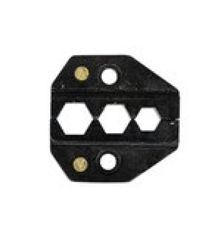 MORDAZA PARA PLEGAR CONECTORES DE ANILLO EN RG-59/U, RG-6/U Y TIPO F (CATV) EN TAMANOS DE 0.255, 0.324 Y 0.305.