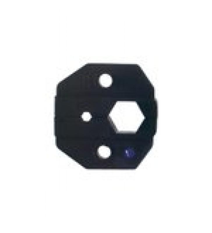MORDAZA PARA PLEGAR CONECTORES DE ANILLO EN CABLES LMR-400, 9913, CNT-400 CON CAVIDADES 0.118 Y 0.429.