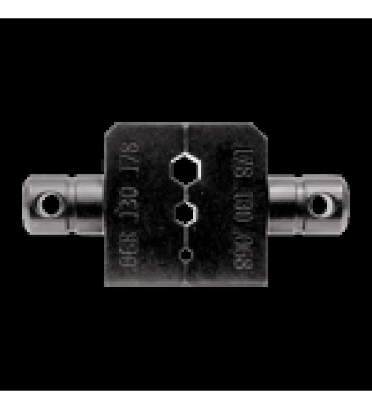 DADO PARA PLEGAR CONECTORES DE ANILLO CON MORDAZA HEX. DE 0.068, 0.130 Y 0.178 EN LMR-100A, RG-174/U Y RG-316/U.