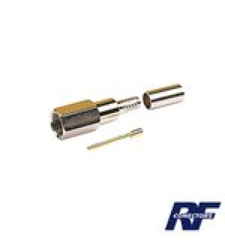 CONECTOR FME MACHO DE ANILLO PLEGABLE PARA CABLE RG-58/U, NIQUEL/ ORO/ TEFLON.