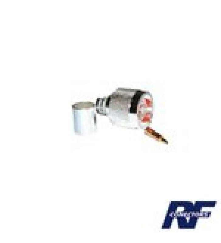 CONECTOR N MACHO DE ANILLO PLEGABLE PARA CABLES LMR-400, 9913, CNT-400, RG8/U-SYS, RFLASH-1113, 8214, 7810A.