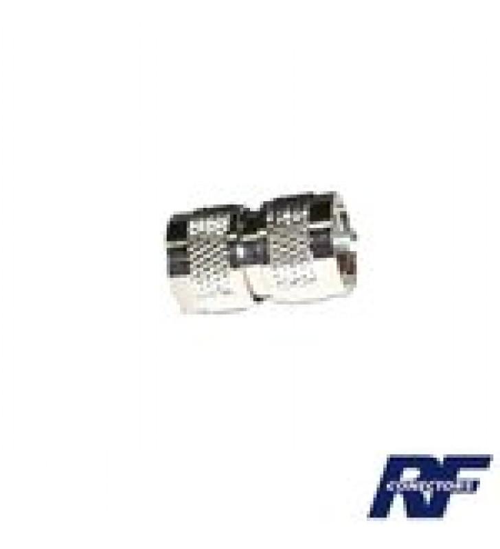 ADAPTADOR BARRIL EN LINEA, DE CONECTOR UHF MACHO (PL-259) A UHF MACHO (PL-259), NIQUEL/ PLATA/ TEFLON.