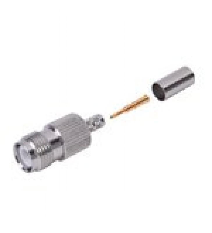 CONECTOR TNC HEMBRA INVERSO PARA CABLE RG-142/U.