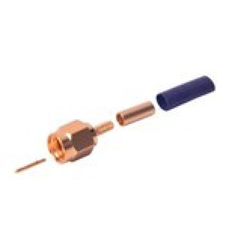 CONECTOR SMA MACHO DE ANILLO PLEGABLE PARA CABLES RG-174/U, BELDEN 8216.