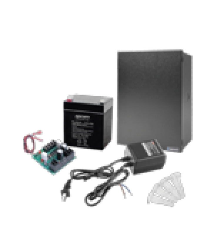 KIT CON FUENTE  ELK PRODUCTS ( ELK624 ) CON SALIDA DE 12 VCD A 1 AMPER, INCLUYE TRANSFORMADOR Y BATERIA DE 4.5 AMPER