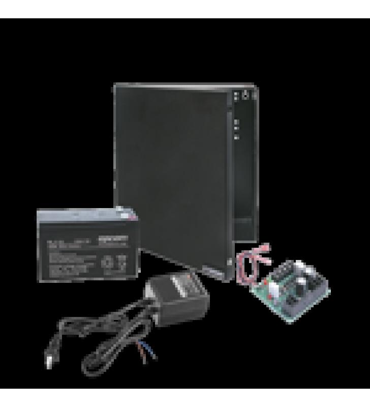 KIT CON FUENTE ELK PRODUCTS ( ELK624 ) CON SALIDA DE 12 VCD A 1 AMPER, INCLUYE TRANSFORMADOR Y BATERIA DE 7 AMPER