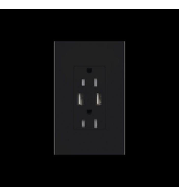 TOMACORRIENTE 15A,CON SALIDA DE CARGA USB