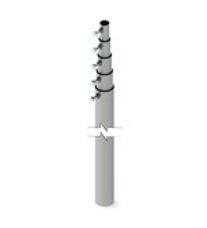 MASTIL TELESCOPICO DE 15 M (49.2 FT) COMPUESTO POR 5 SECCIONES CONCENTRICAS (REQUIERE ACCESORIOS DE INSTALACION)
