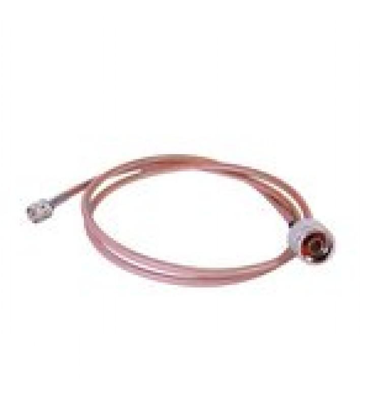CABLE COAXIAL RG-142/U DE 100 CM, 50 OHM Y CONECTORES INSTALADOS DE N MACHO A MINI-UHF MACHO.