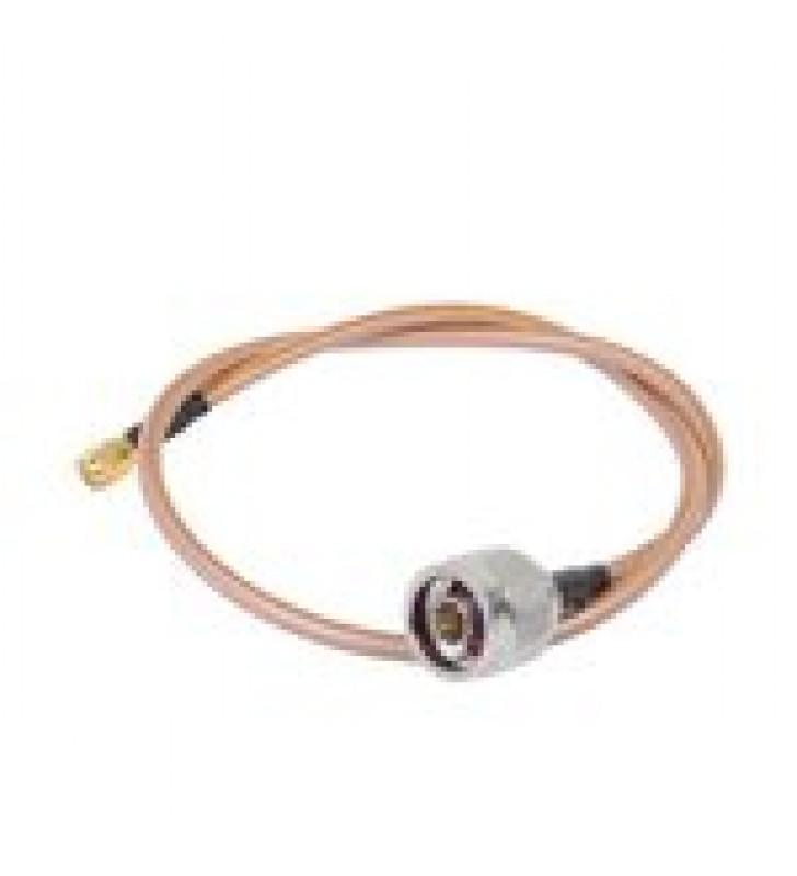 CABLE DE 60 CM TIPO RG-142/U CON CONECTORES N MACHO Y SMA MACHO INVERSO (HASTA 8 GHZ).