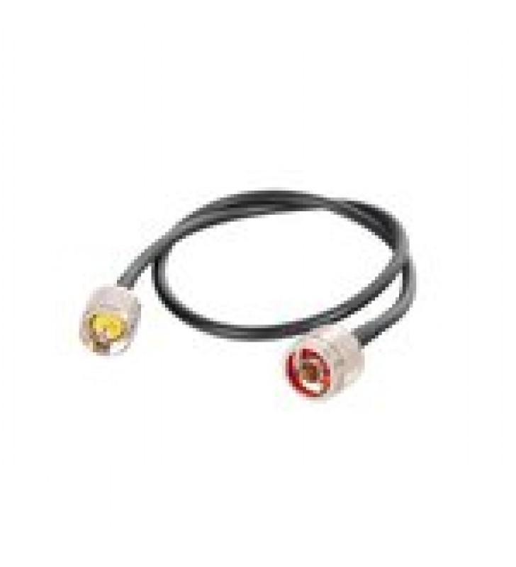 JUMPER DE 60 CM FABRICADO CON CABLE RG-58U-SYS, CONECTOR N Y UHF DEL OTRO EXTREMO