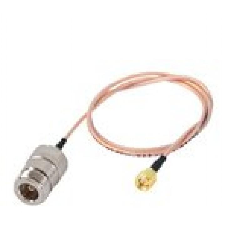 JUMPER CON CABLE RG-316 CONECTORES N HEMBRA / SMA MACHO INVERSO 60 CM.