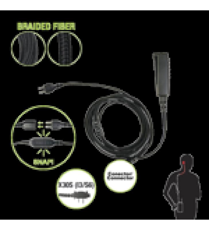 CABLE PARA MICROFONO AUDIFONO SNAP INTERCAMBIABLE CON CONECTOR PARA RADIOS ICOM CON CONECTOR DE 2 PINES.