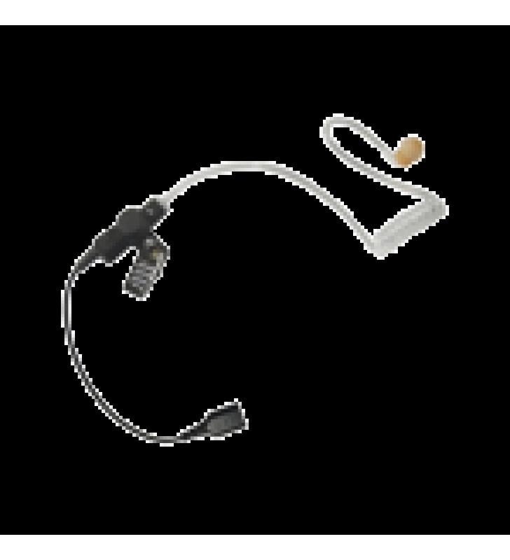 AURICULAR DE TUBO ACUSTICO TRANSPARENTE CON CABLE DE FIBRA TRANZADA CON CONECTOR SNAP TIPO MIRAGE. REQUIERE MICROFONO DE SOLAPA DE 1 O 2 HILOS DE LA SERIE SNAP.