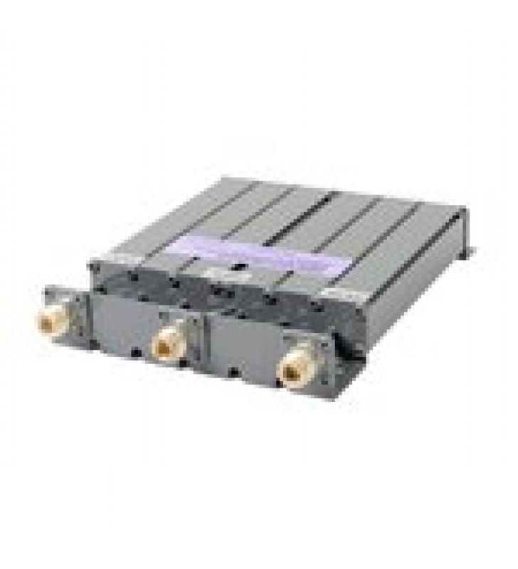 DUPLEXER UHF 490-520 MHZ, 6 CAVIDADES CON CONECTOR N, VERSION PLATA