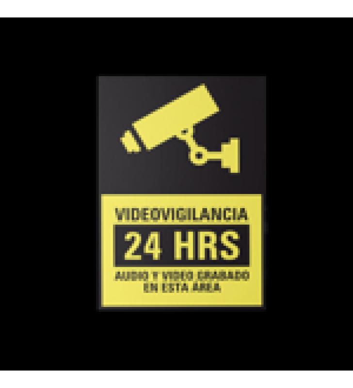LETRERO DE VIDEOVIGILANCIA EN POLIESTIRENO / PAQUETE CON 10