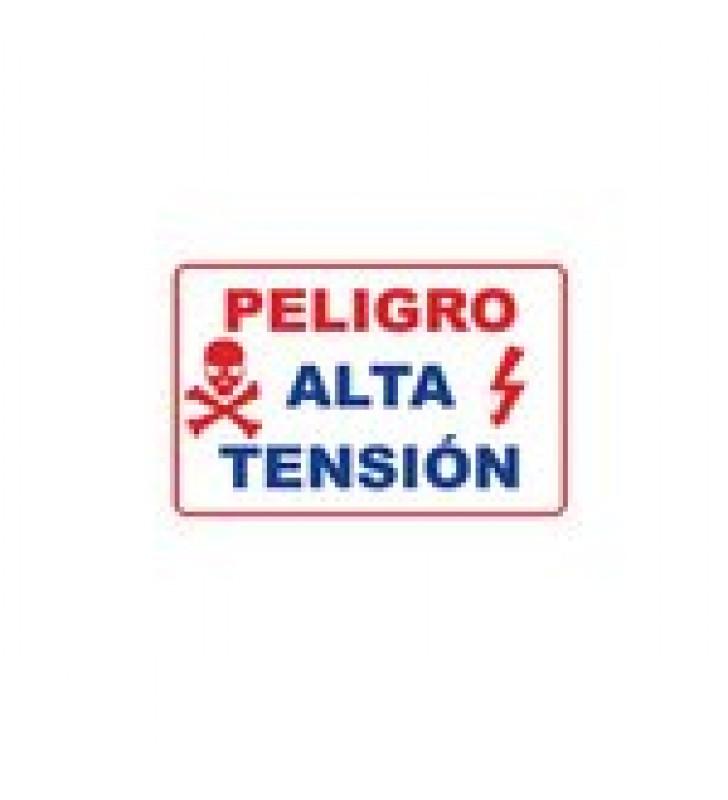 LETRERO DE PELIGRO PARA CERCAS ELECTRIFICADAS, DE ALTA DURABILIDAD Y FACIL INSTALACION.