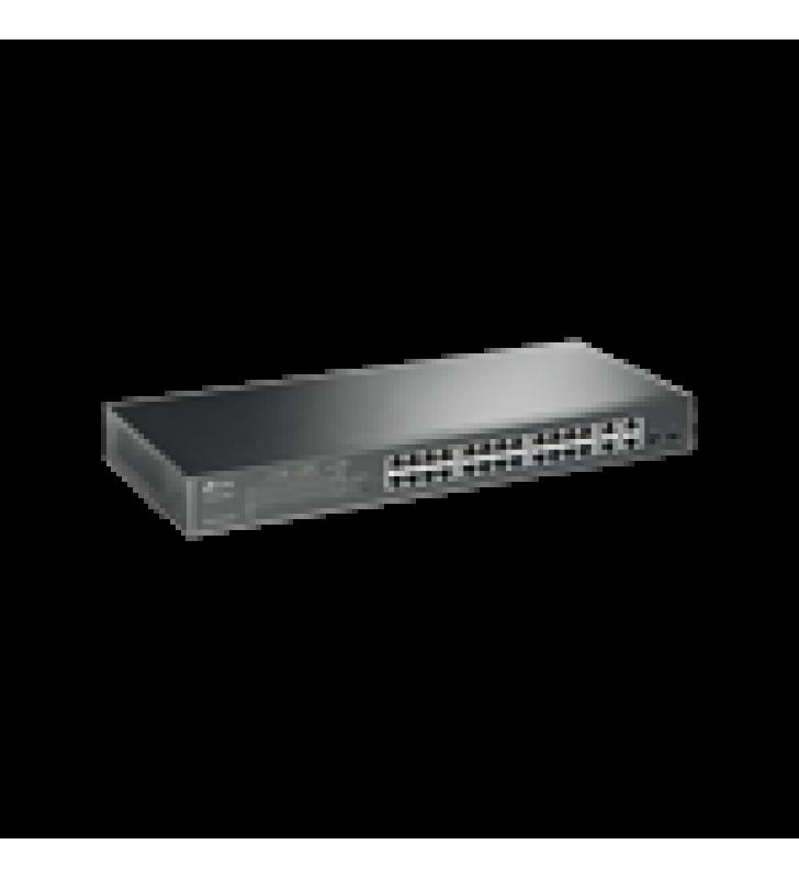 SMART SWITCH POE+ ADMINISTRABLE CAPA 2, 24 PUERTOS 10/100 MBPS, 4 PUERTOS 10/100/1000 MBPS + 2 PUERTOS SFP COMBO, 192 W