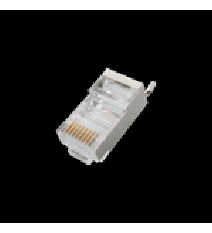 CONECTOR RJ45 PARA CABLE FTP/STP CATEGORIA 5E - BLINDADO CON PIN A TIERRA