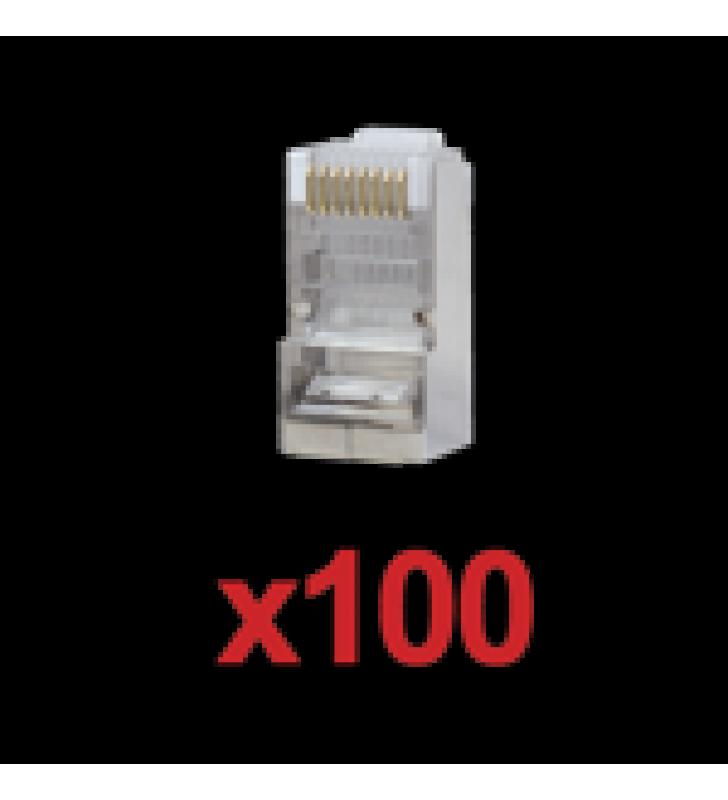 PAQUETE DE 100 CONECTORES RJ45 PARA CABLE UTP CATEGORIA 5E