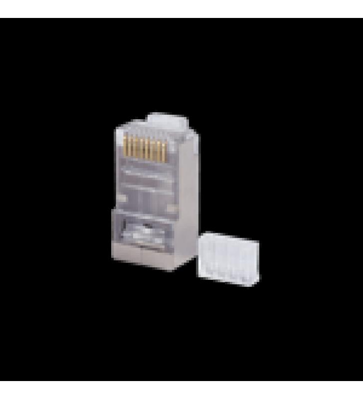 CONECTOR RJ45 PARA CABLE FTP/STP CATEGORIA 6 - BLINDADO