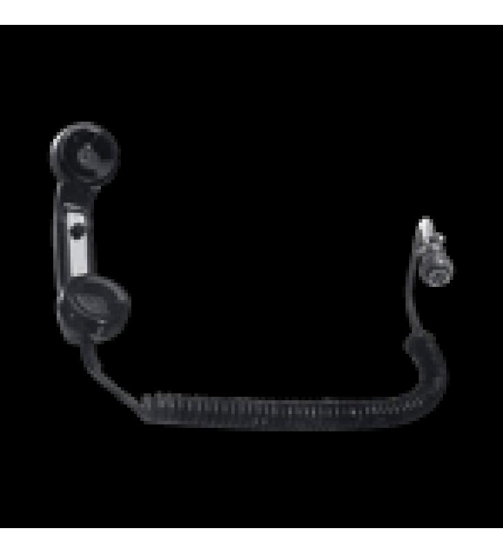 AURICULAR TIPO TELEFONICO PARA RADIOS DE LOCOMOTORA, BOTON PTT DE USO RUDO, CABLE ESPIRAL Y CONECTOR AAR