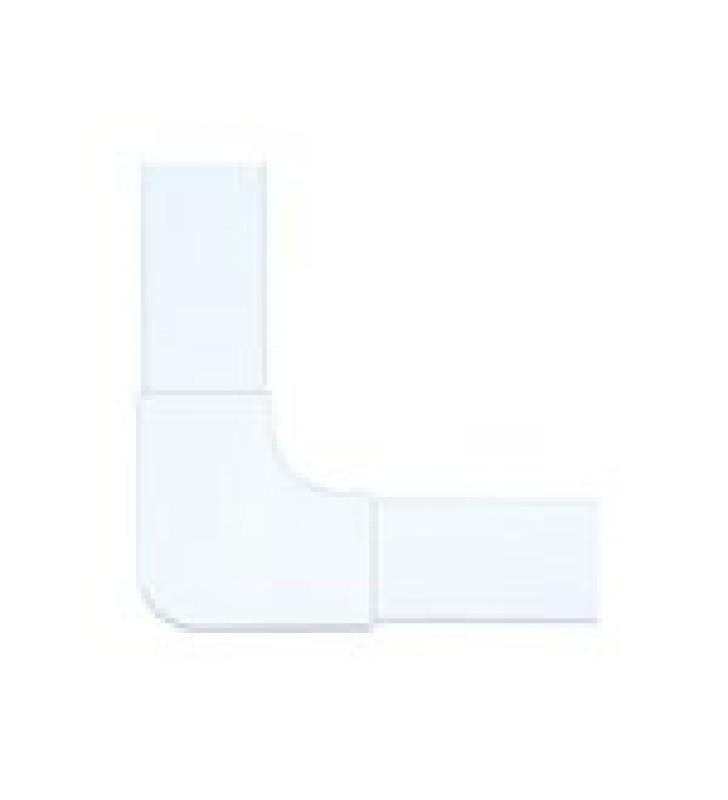 SECCION EN L COLOR BLANCO DE PVC AUTO EXTINGUIBLE,  PARA CANALETA PT48 (6130-01002)