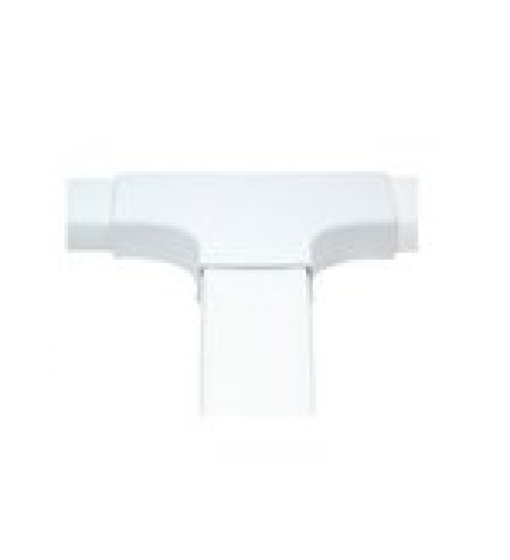 SECCION EN T COLOR BLANCO DE PVC AUTO EXTINGUIBLE,  PARA CANALETA PT48 (6140-01002)