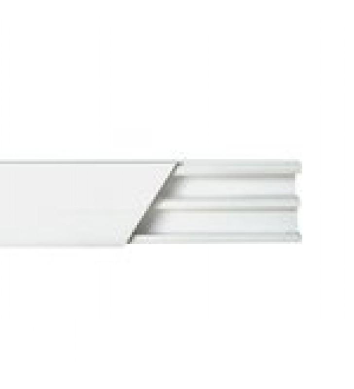 CANALETA BLANCA DE PVC AUTO EXTINGUIBLE, CON DIVISION, 20 X 10 MM, TRAMO DE 2.5M (5101-01250)